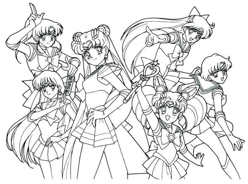 Sailor Moon Coloring Pages For Kids