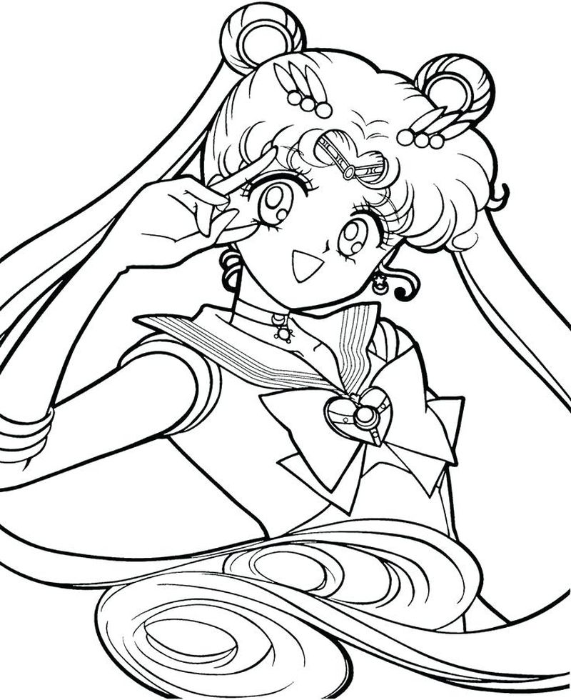 Sailor Moon Coloring Pages Sailor Moon Coloring Book