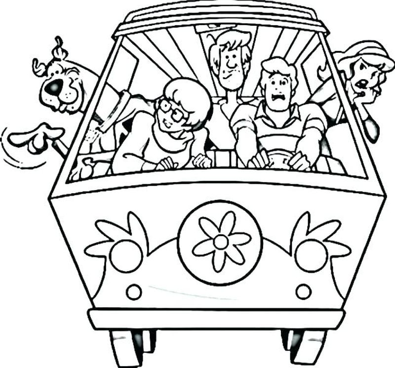 Scooby Doo Coloring Pages Free To Print