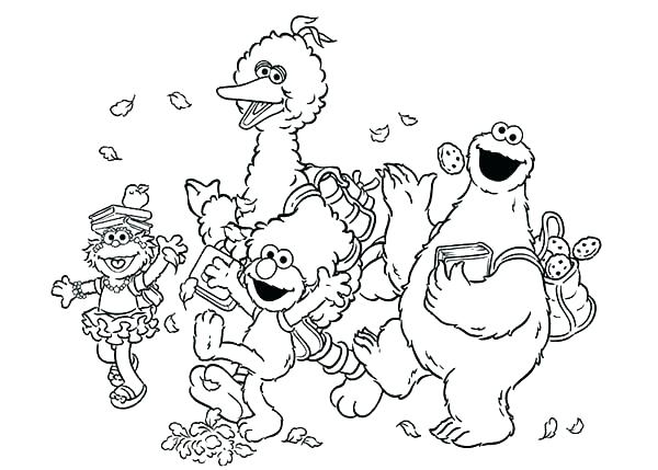 Sesame Street Coloring Pages Abby