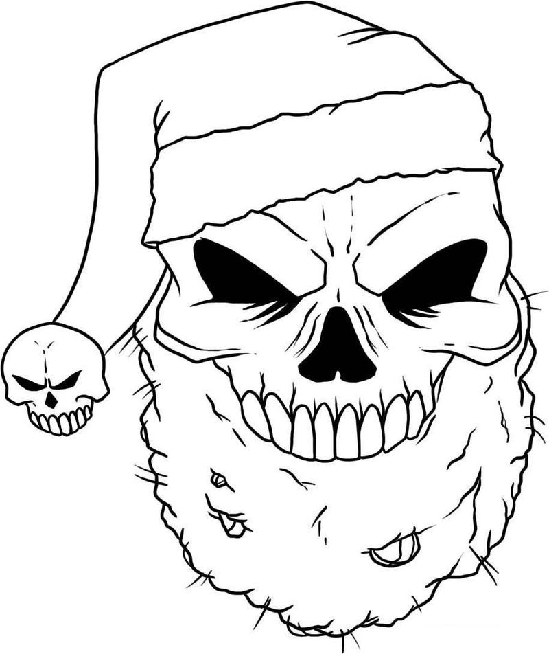 Simple Skull Coloring Pages