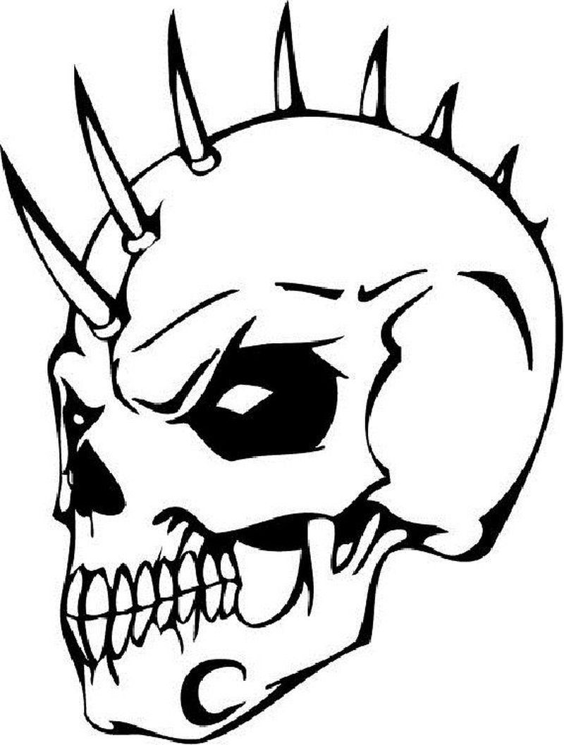 Skull Coloring Pages For Girl