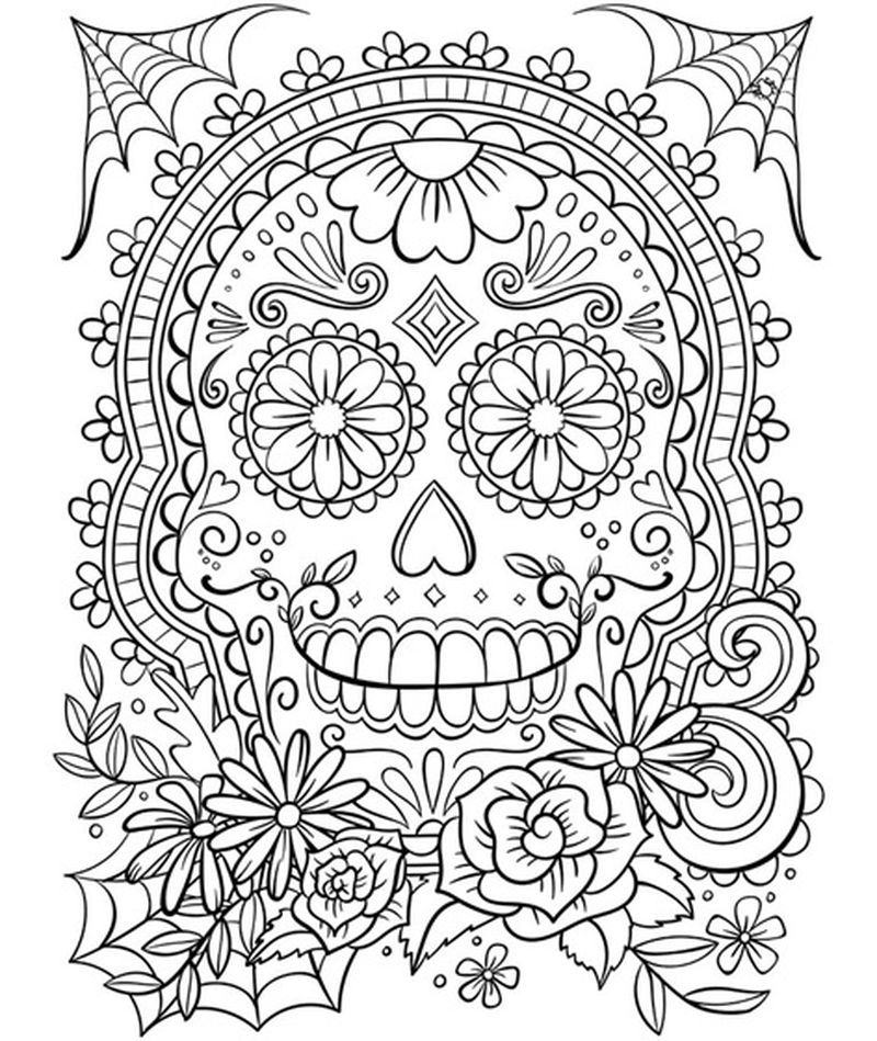 Skull Coloring Pages Free Download
