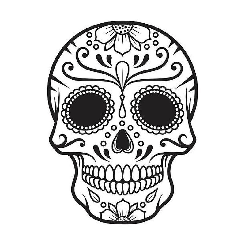 Skull Colouring Pages For Adults
