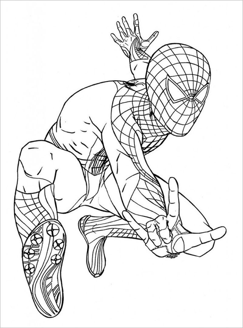 Spiderman And Flash Coloring Pages