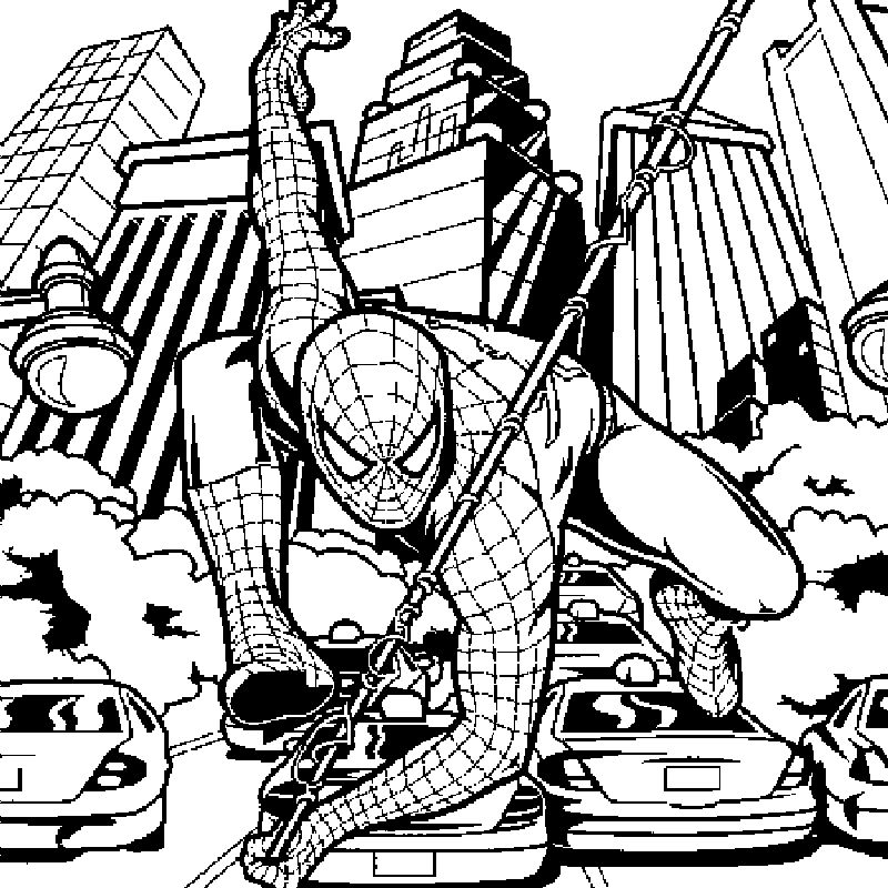 Spiderman And Ironman Coloring Pages