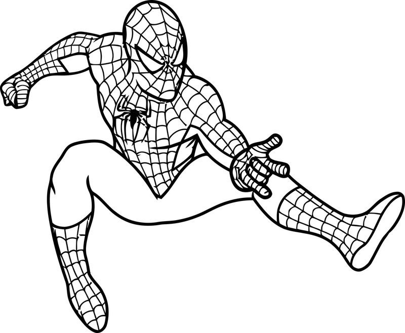 Spiderman Bike Coloring Pages