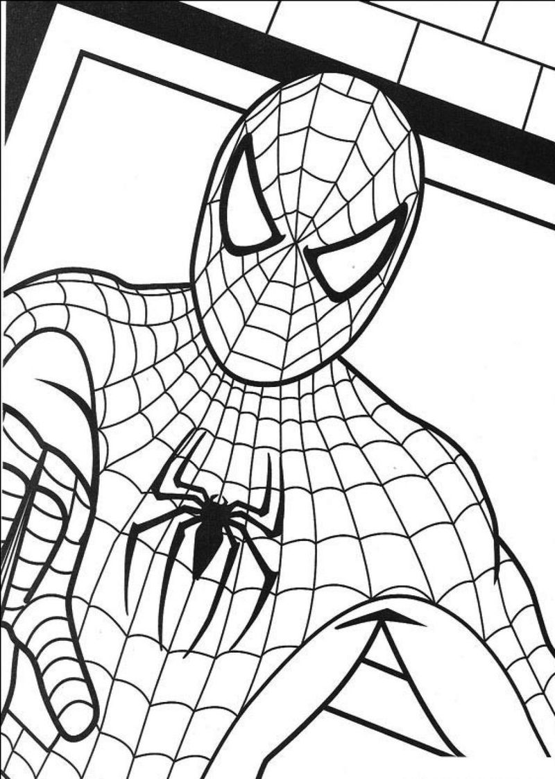 Spiderman Birthday Coloring Pages