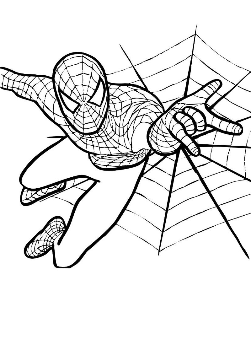 Spiderman Car Coloring Pages
