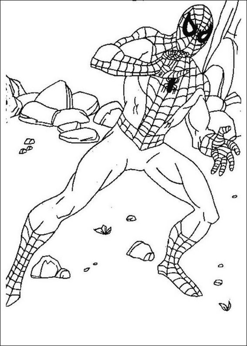 Spiderman Coloring Pages A4