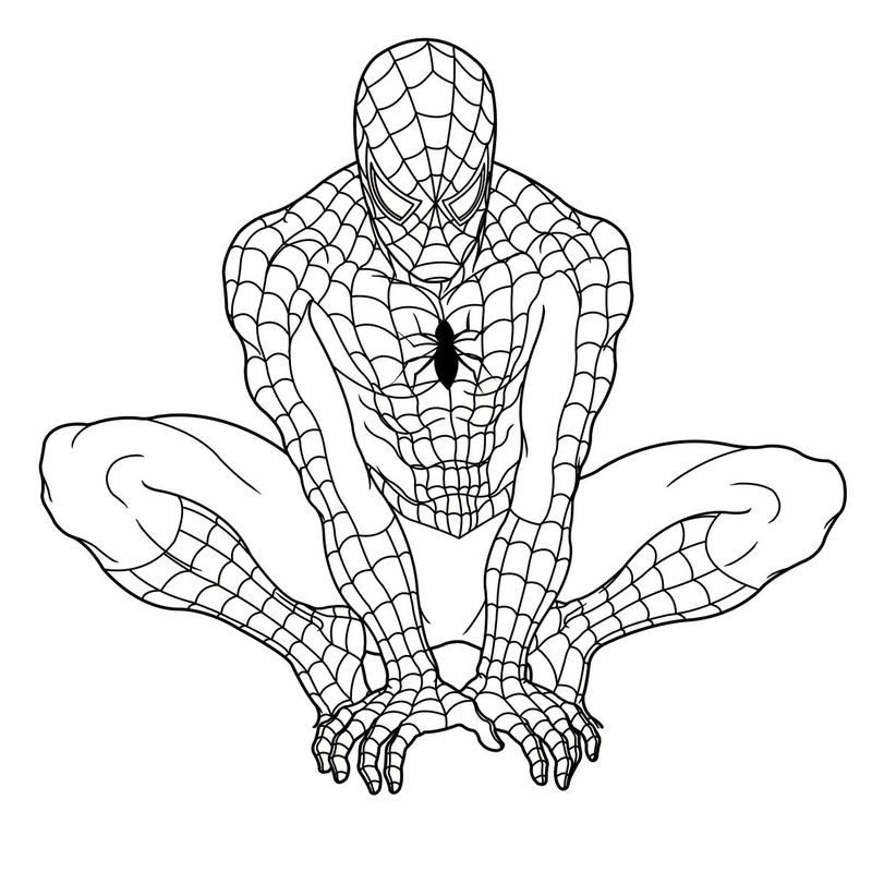 Spiderman Coloring Pages Hellokids.Com
