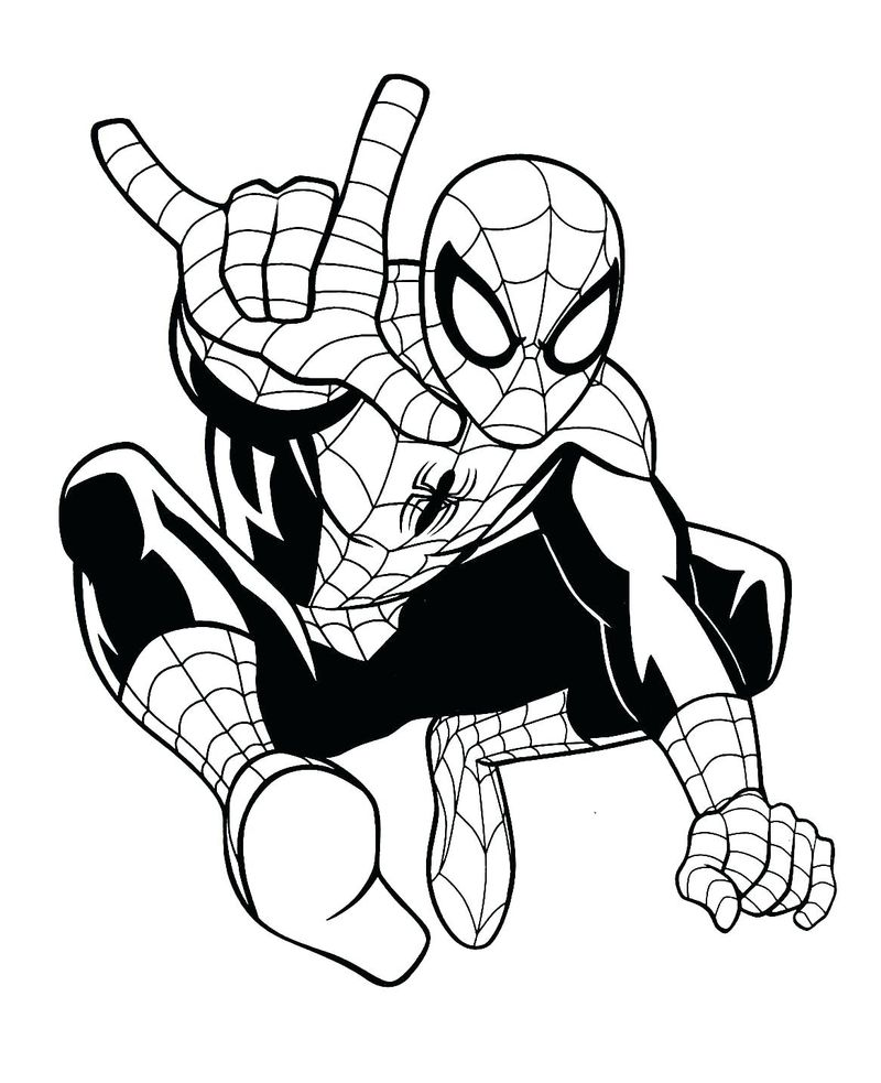 Spiderman Colouring Book Pages