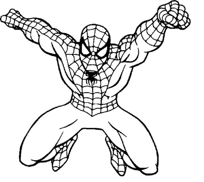 Spiderman Colouring Pages A4