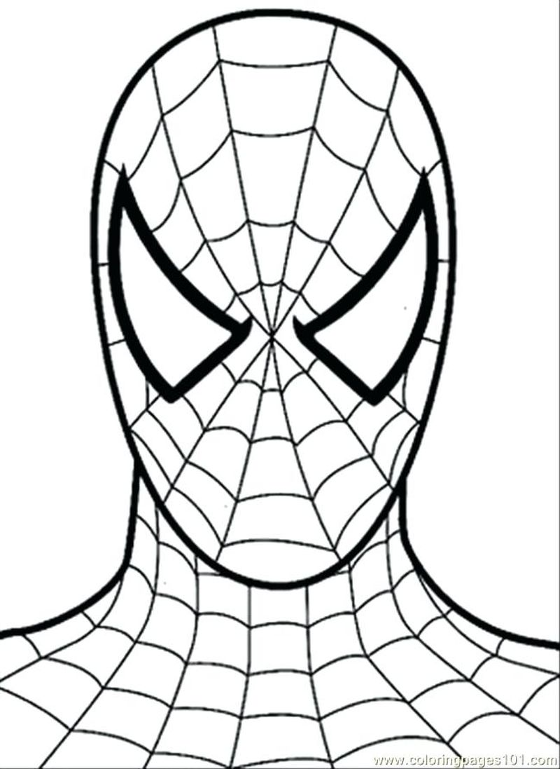 Spiderman Happy Birthday Coloring Pages
