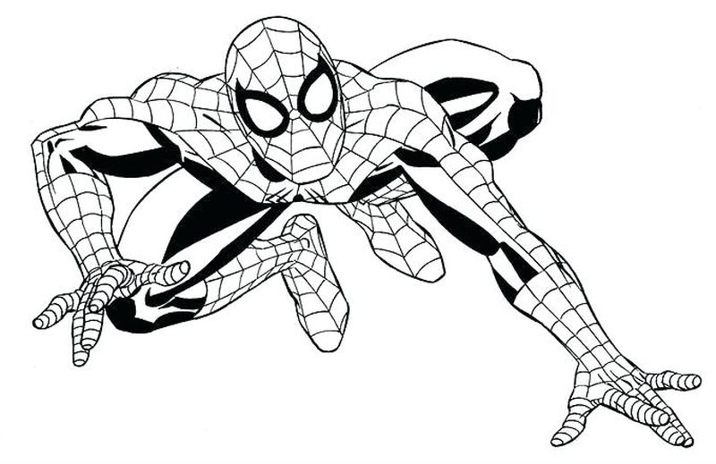 Spiderman On Bike Coloring Pages