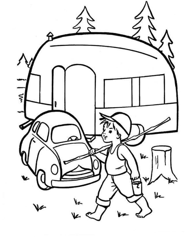 Spongebob Coloring Pages Camping Free