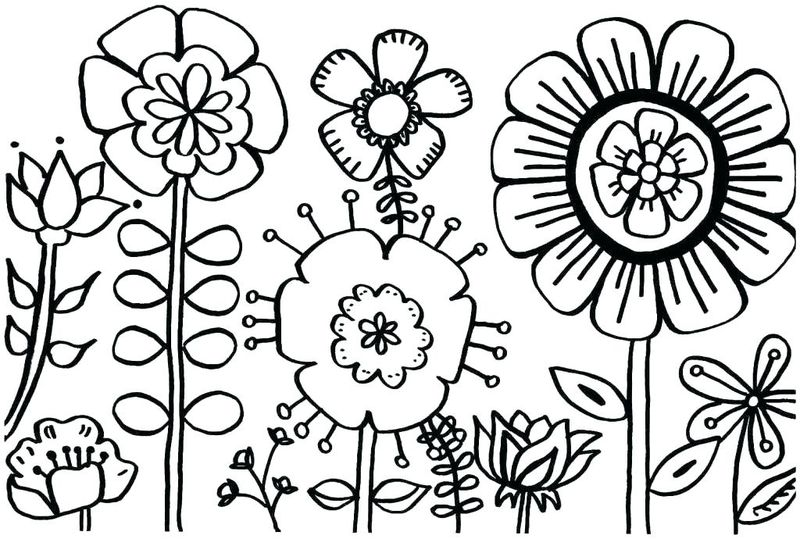 Spring Coloring Pages For Pre K