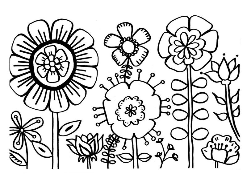 Spring Coloring Pages Free Pdf