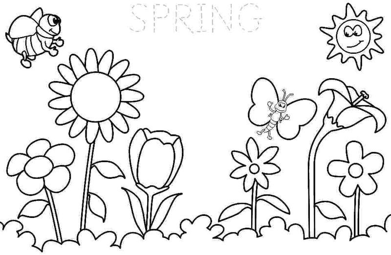 Spring Coloring Pages Free