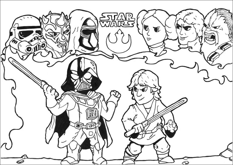 Star Wars The Force Awakens Coloring Pages free