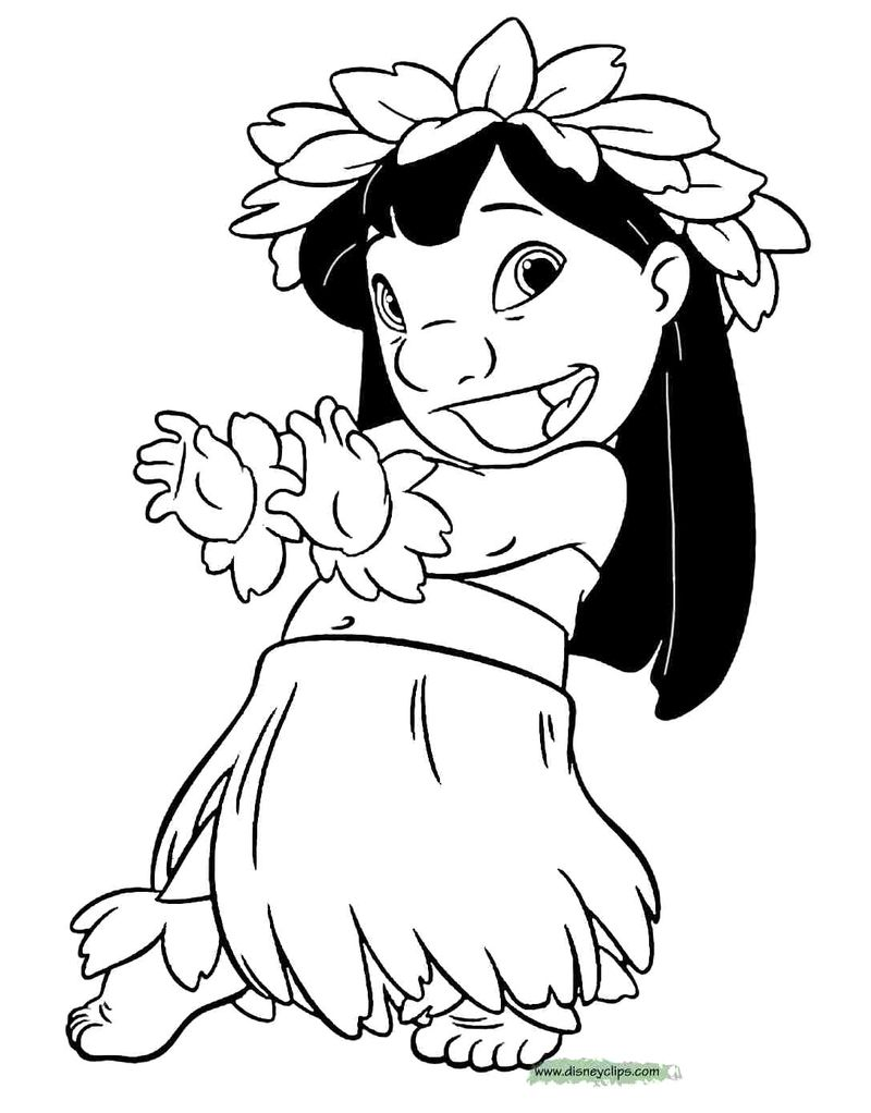 Stitch Christmas Coloring Pages