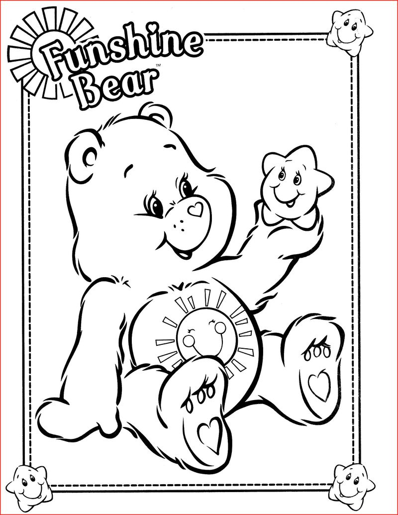 Sunshine Care Bear Coloring Pages