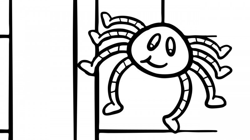 The Very Busy Spider Coloring Pages