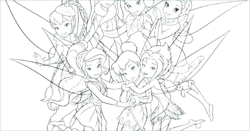 Tinkerbell Coloring Book Pages