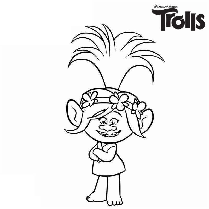 Trolls Bergen Coloring Pages