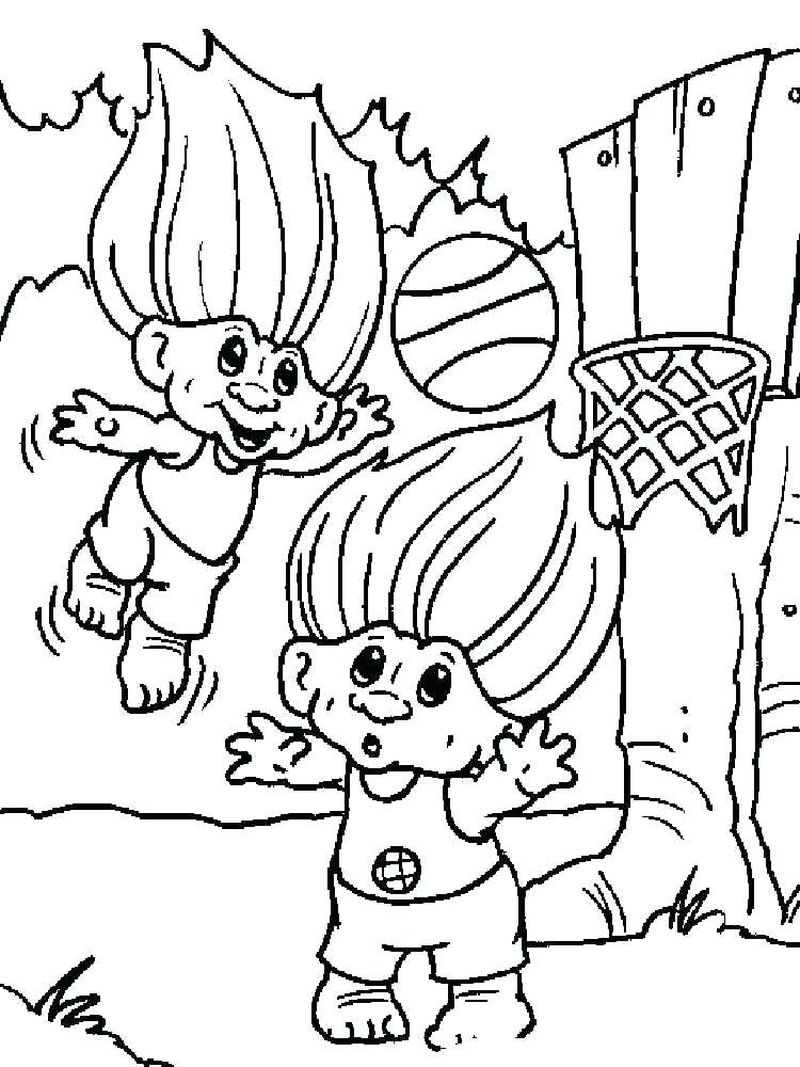 Trolls Characters Coloring Pages
