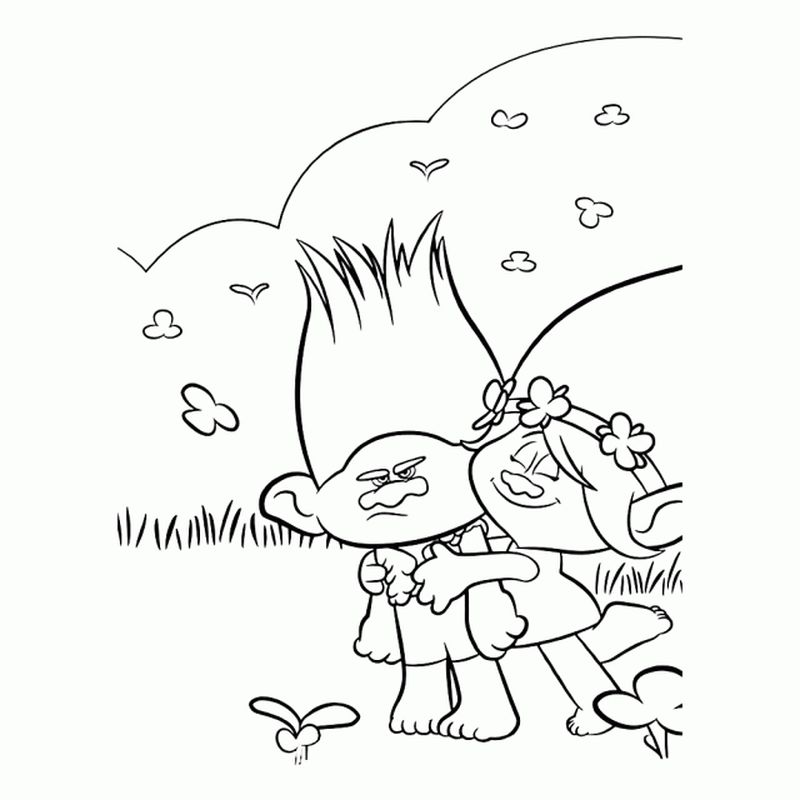 Trolls Coloring Book Pages