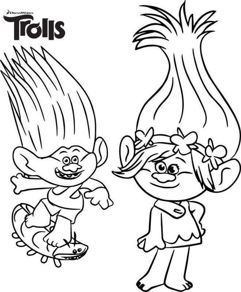 Trolls Coloring Pages Satin And Chenille