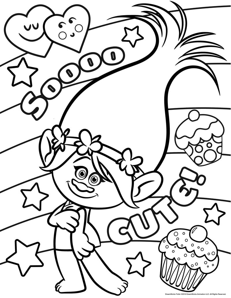Trolls Colouring Pages Free Printable