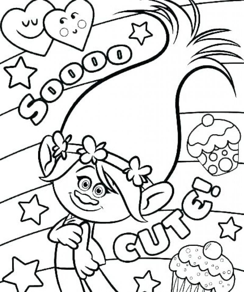 Trolls Fuzzbert Coloring Pages