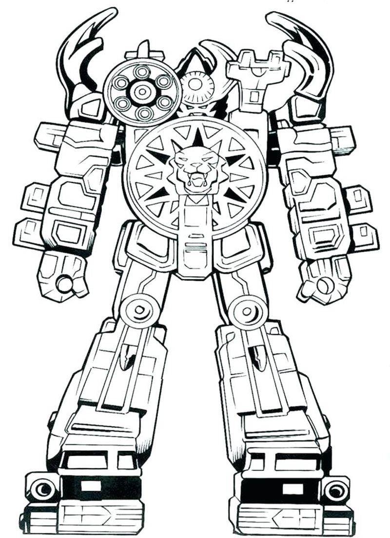 a robot coloring pages