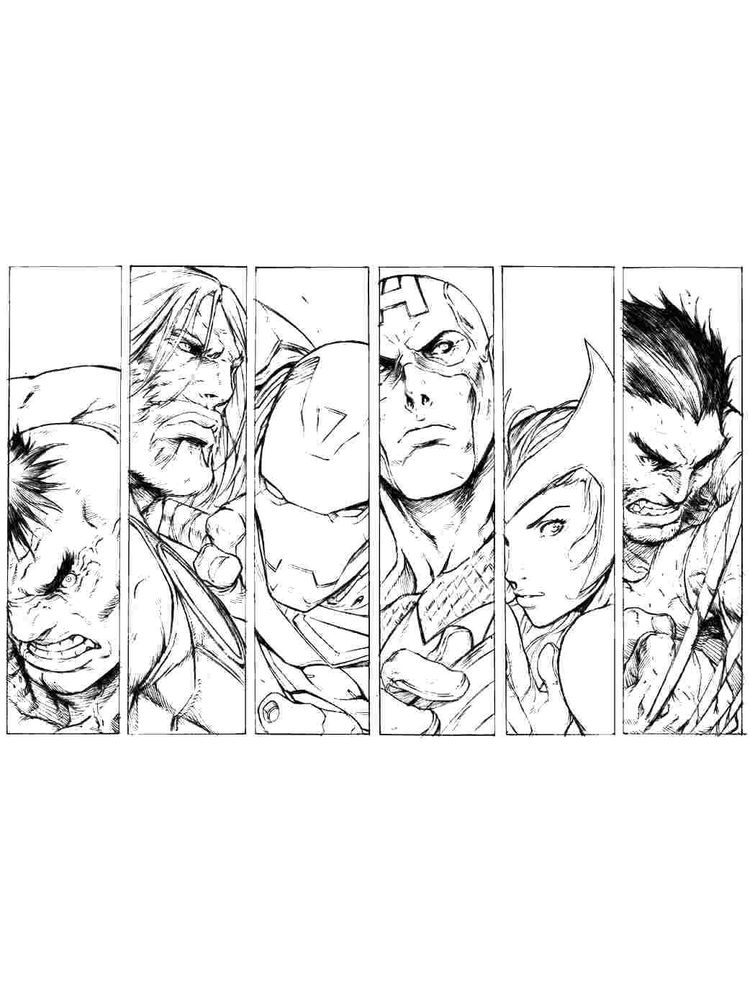 all avengers coloring pages free