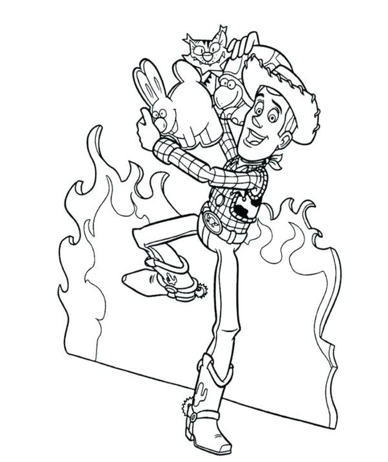 andy toy story coloring pages