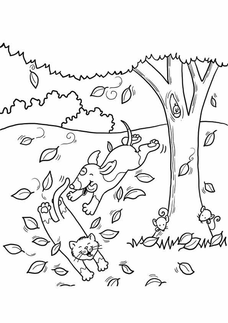 apple tree coloring pages for kids