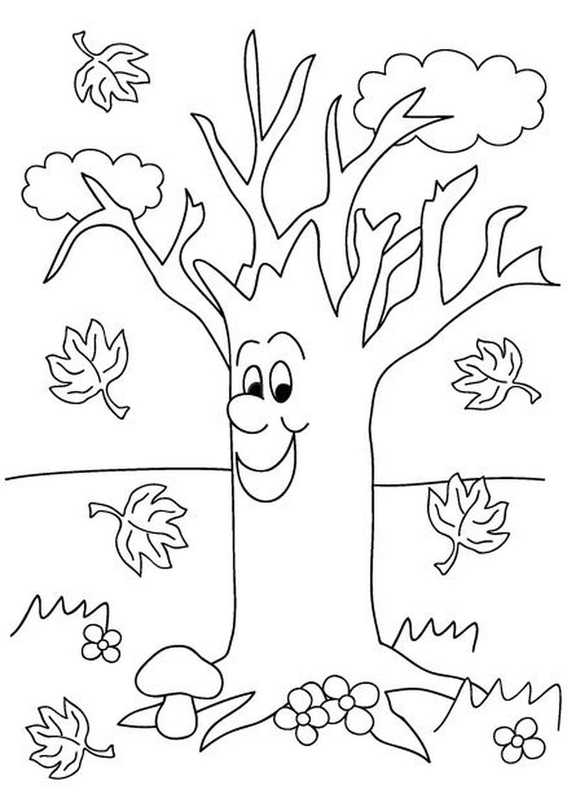 apple tree coloring pages for preschoolers