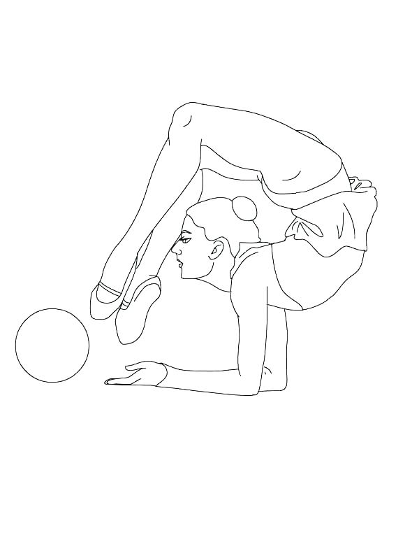 artistic gymnastics coloring pages