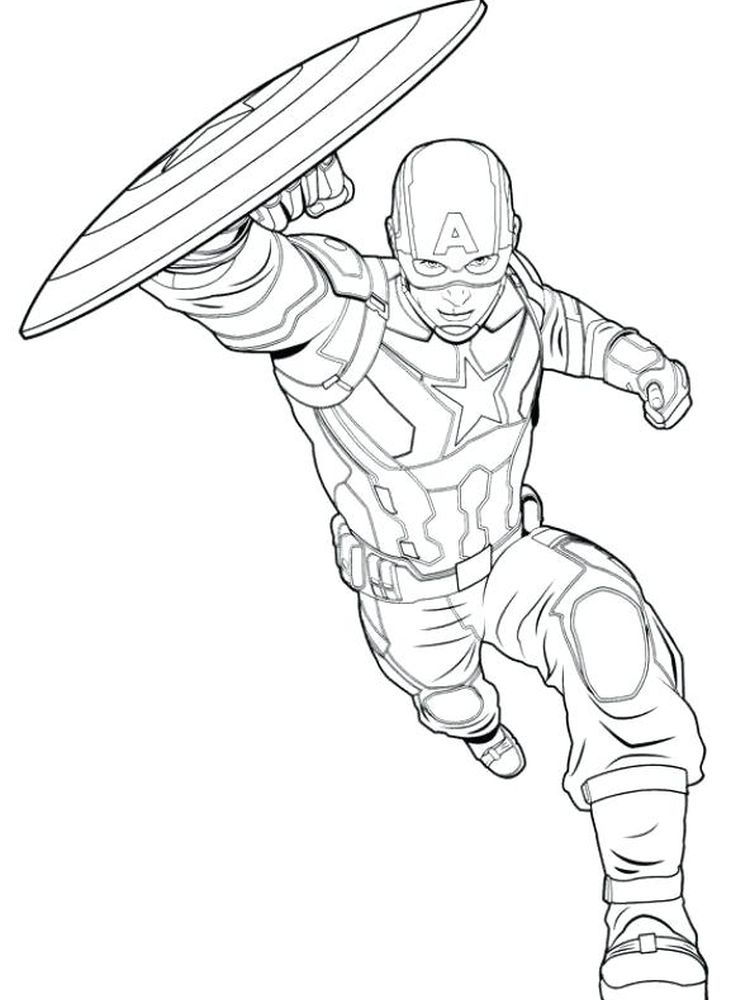 avengers civil war coloring pages free