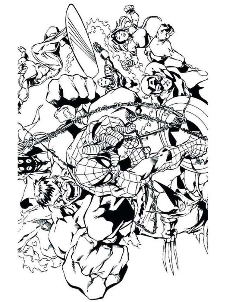 avengers coloring page printable free
