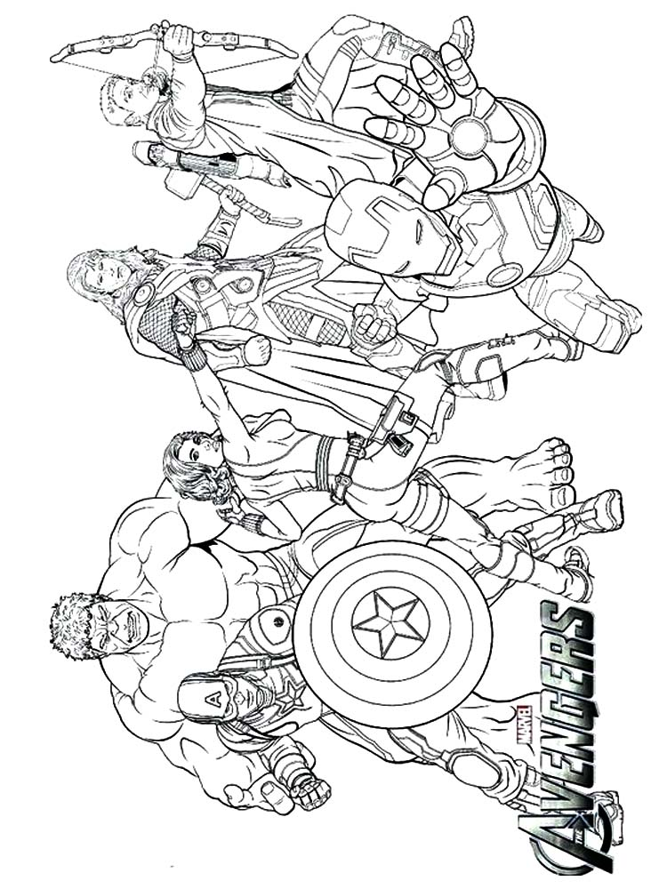avengers coloring pages for toddlers free