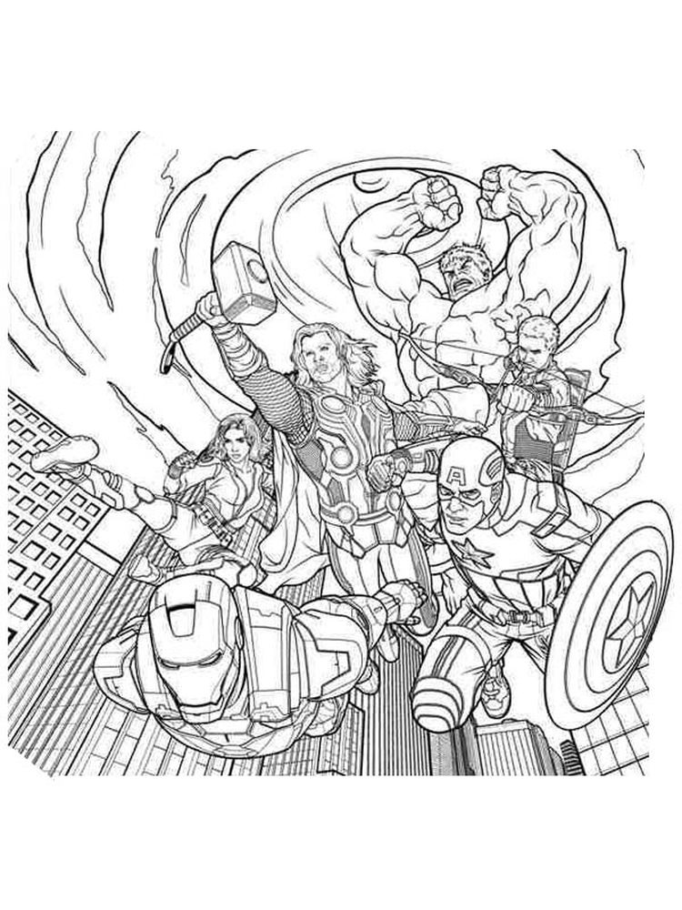 avengers coloring pages printables free