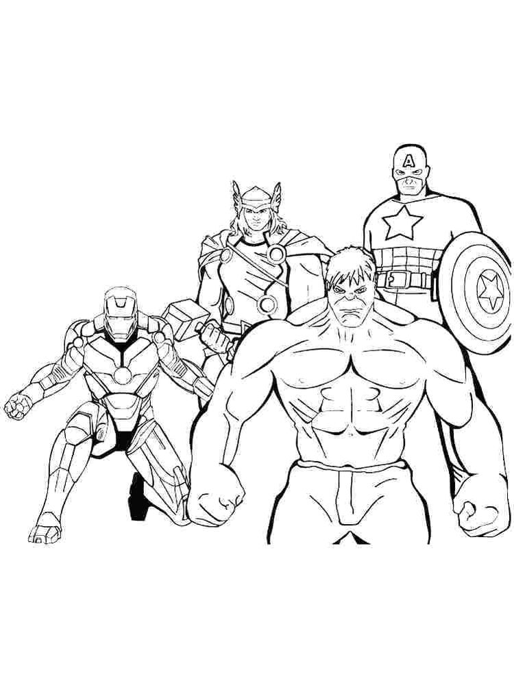 avengers coloring pages thor free