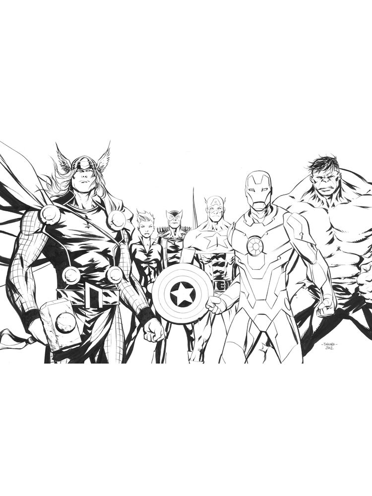 avengers coloring pages to print free
