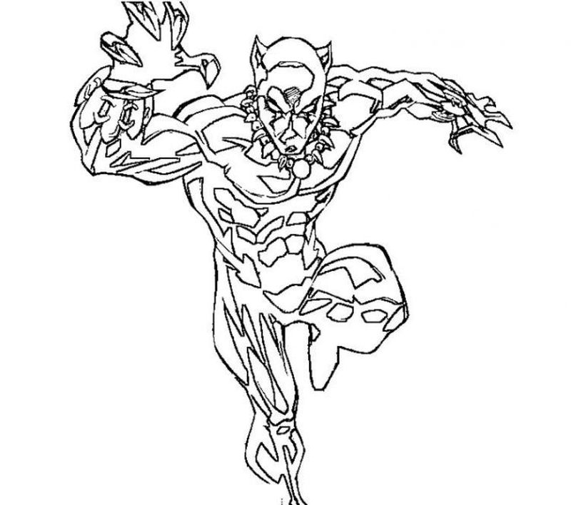 baby black panther coloring pages