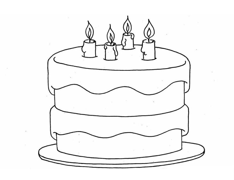 baby cake coloring pages