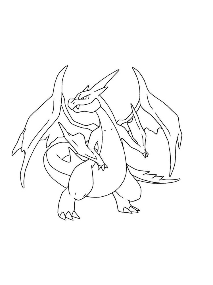 baby charizard coloring pages