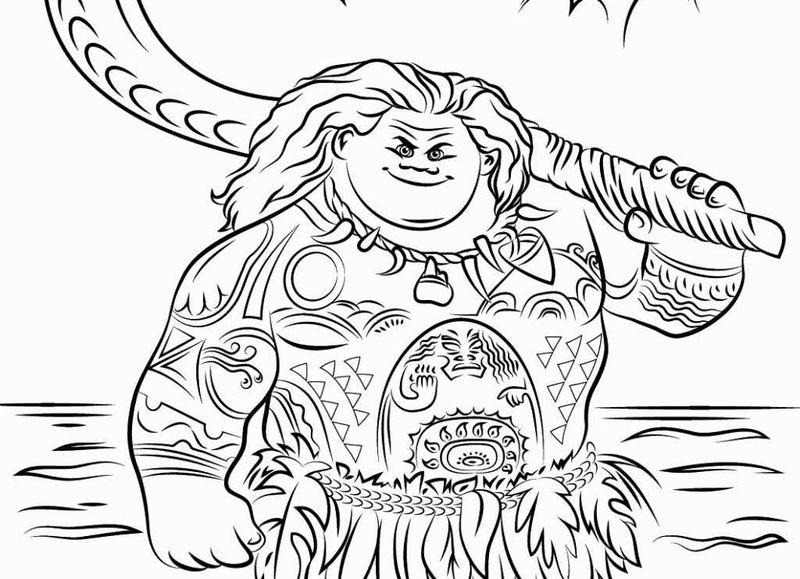 baby moana coloring pages printable pdf